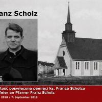 Uroczystość poświęcona pamięci ks. Franza Scholza