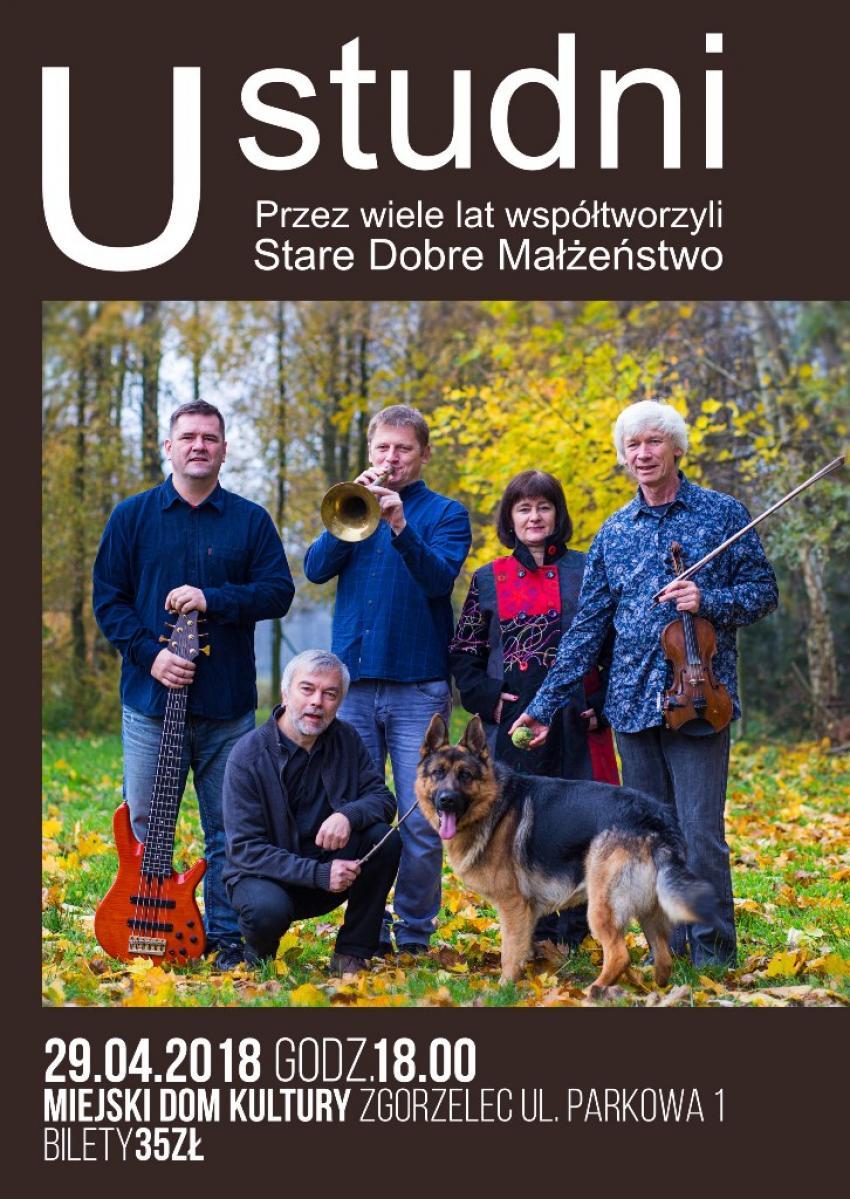 """Koncert """"U studni"""", MDK Zgorzelec, niedziela, 29 kwietnia, godzina 18, bilety 35 zł."""