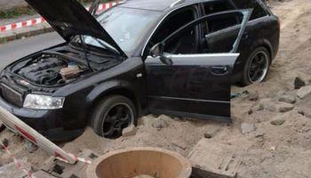 Auto, którym poruszał się zatrzymany 33-latek (fot.: KPP Zgorzelec)