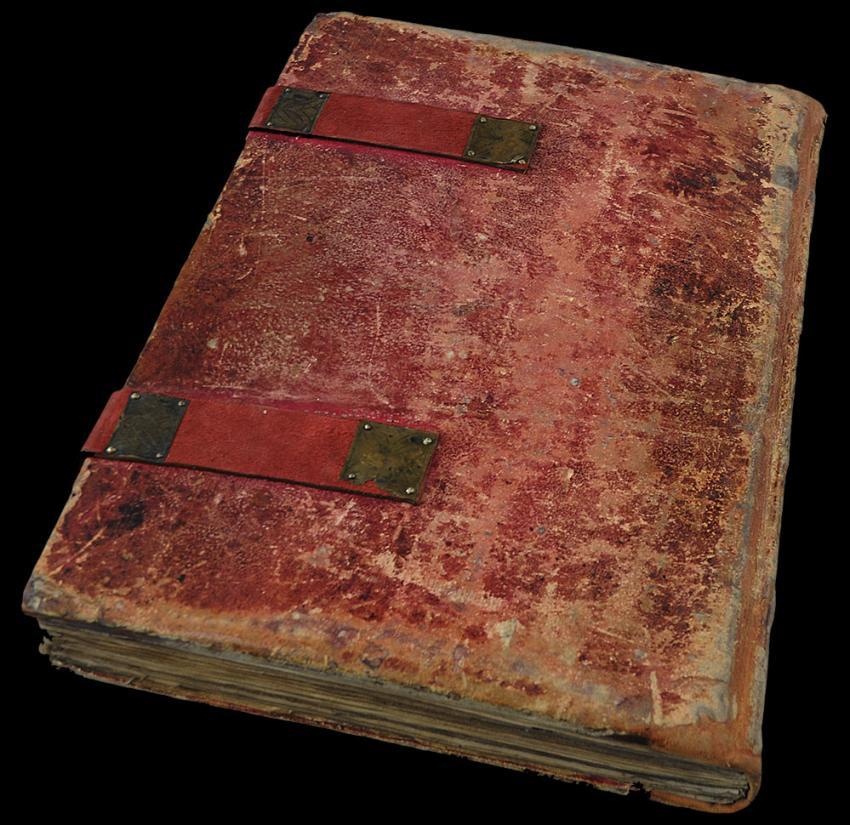 Czerwona Księga - najstarsza księga miejska Zgorzelca (fot. udostępnione przez Muzeum Łużyckie)
