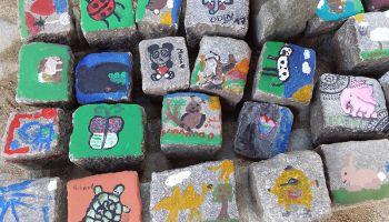 Malowanie zwierząt na kamieniach (fot.: www.nasze-zoo.pl)