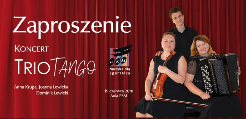 Zespół tworzą: Anna Krupa (skrzypce), Joanna Lewicka (akordeon) i Dominik Lewicki (fortepian) | (fot.: PSM Zgorzeleca