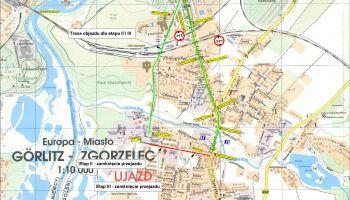 Mapa objazdu do ul. Orzeszkowej