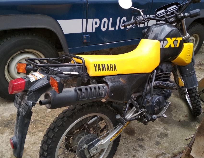 Skradziony w Görlitz motocykl marki Yamaha XT 350 (fot.: KPP Lubań)