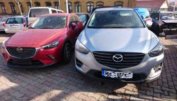 Policjanci szukają sprawców kradzieży dwóch samochodów osobowych. | fot.: KPP Zgorzelec