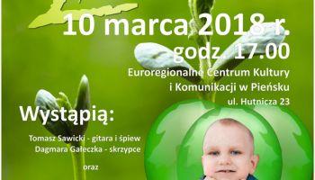 Koncert odbędzie się 10 marca br. o godz. 17.00 w Euroregionalnym Centrum Kultury i Komunikacji przy ul. Hutniczej 23 w Pieńsku.
