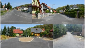 Kolejne drogi w Gminie Sulików pokryto asfaltem (mat. prasowe gminy)