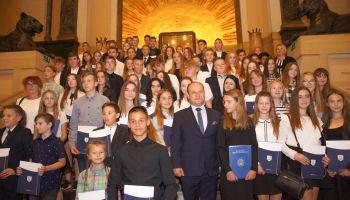 Uroczystości wręczenia stypendiów zorganizowano w Miejskim Domu Kultury
