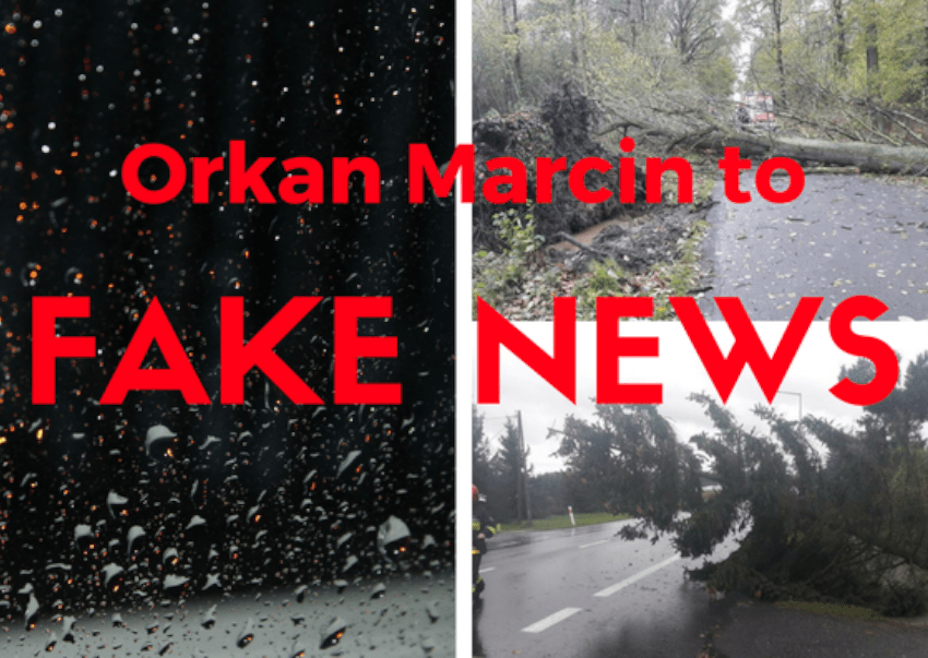 Orkan Marcin to fake news