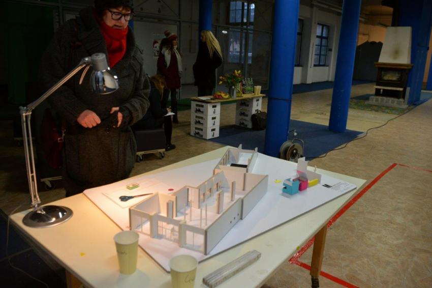 Model kawiarni. Projekt: Robert Melcher / Foto: Renata Burdosz