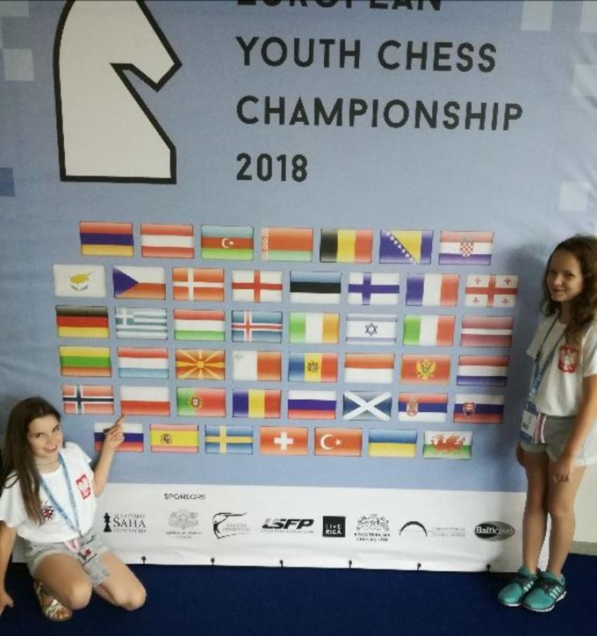Joanna i Hanna Pietryk na Mistrzostwach Europy w szachach (fot.: UM Zgorzelec)