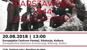 Zaproszenie na otwarcie wystawy z okazji 74. rocznicy Powstania Warszawskiego