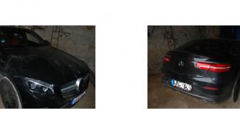 Mundurowi zatrzymali dwóch paserów Mercedesa o wartości 400 tys. zł. | fot.: KPP Zgorzelec