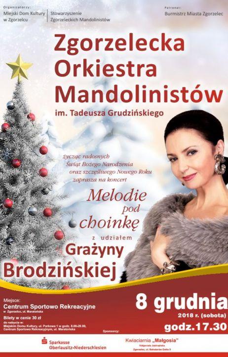 Świąteczne Mandoliny z Grażyną Brodzińską. Rusza sprzedaż biletów
