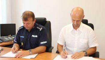 Podpisano porozumienie o realizacji wspólnego projektu przez KWP we Wrocławiu oraz KWP w Libercu (fot.: KWP Wrocław)