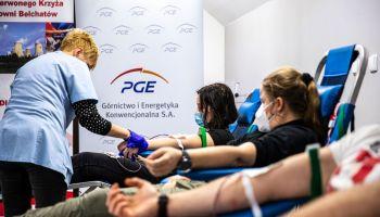 PGE GiEK: blisko 140 litrów krwi oddali pracownicy w pierwszej połowie roku / fot. PGE