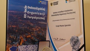 Srebrny Certyfikat Członkostwa Dolnośląskiej Organizacji Turystycznej dla Miasta Zgorzelec