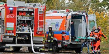 Zderzenie osobówki z autokarem w Zgorzelcu. To tylko ćwiczenia - zdjęcie nr 4