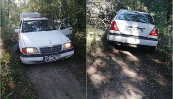 Samochód, którym uciekał poszukiwany / fot. KPP Zgorzelec