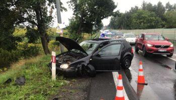 Uszkodzony Volkswagen / fot. KPP Zgorzelec