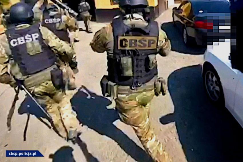 Policjanci CBŚP w trakcie działań / fot. CBŚP