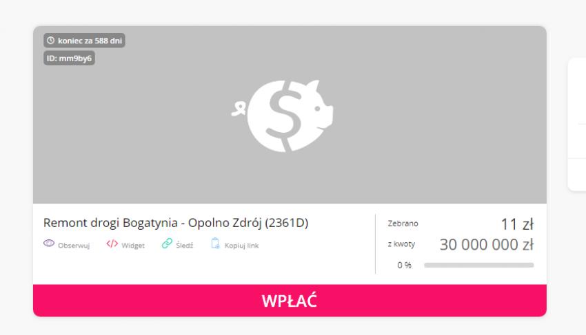 Zbiórka na portalu www.zrzutka.pl