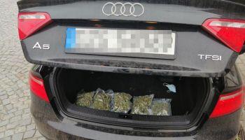 Marihuana w bagażniku / fot. KPP Zgorzelec
