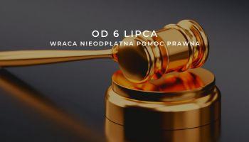 Wraca nieodpłatna pomoc prawna