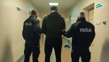 Zatrzymany przez zgorzeleckich policjantów poszukiwany 40-latek / fot. KPP Zgorzelec