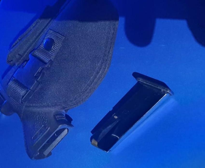 Zabezpieczona broń z magazynkiem / fot. KPP Zgorzelec
