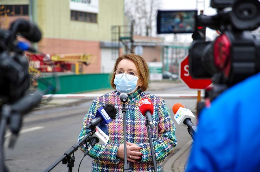 Briefing prasowy europosłanki Anny Zalewskiej w sprawie kompleksu Turów / fot. PGE GiEK S.A.