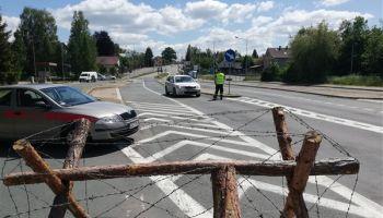 Zamknięta granica / fot. KP PSP Zgorzelec