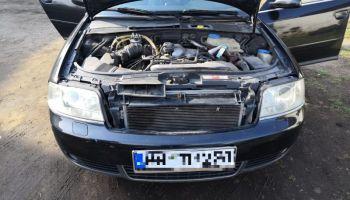 Odzyskany pojazd marki Audi / fot. KPP Zgorzelec