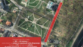 Uwaga! 22-24.06. utrudnienia w ruchu przy ul. Wolności i ul. Parkowej