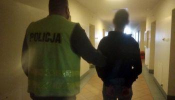 Zatrzymany przez zgorzeleckich policjantów mężczyzna podejrzany o stalking / fot. KPP Zgorzelec