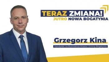 Teraz zmiana! Jutro Nowa Bogatynia - to nowe hasło wyborcze Grzegorza Kiny