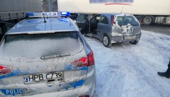 Pościg za kierowcą Opla Corsy / fot. KPP Zgorzelec