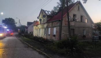 Pożar budynku wielorodzinnego przy ul. Borowskiej w Ruszowie / fot. KP PSP Zgorzelec