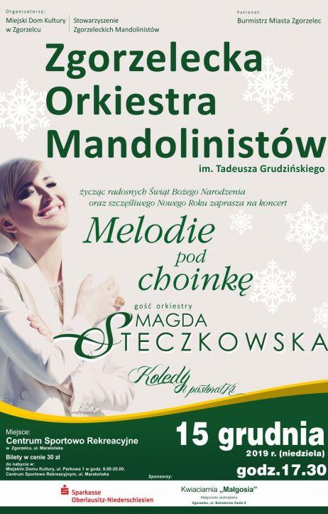 Melodie pod choinkę 2019. Gwiazdą wieczoru będzie Magda Steczkowska