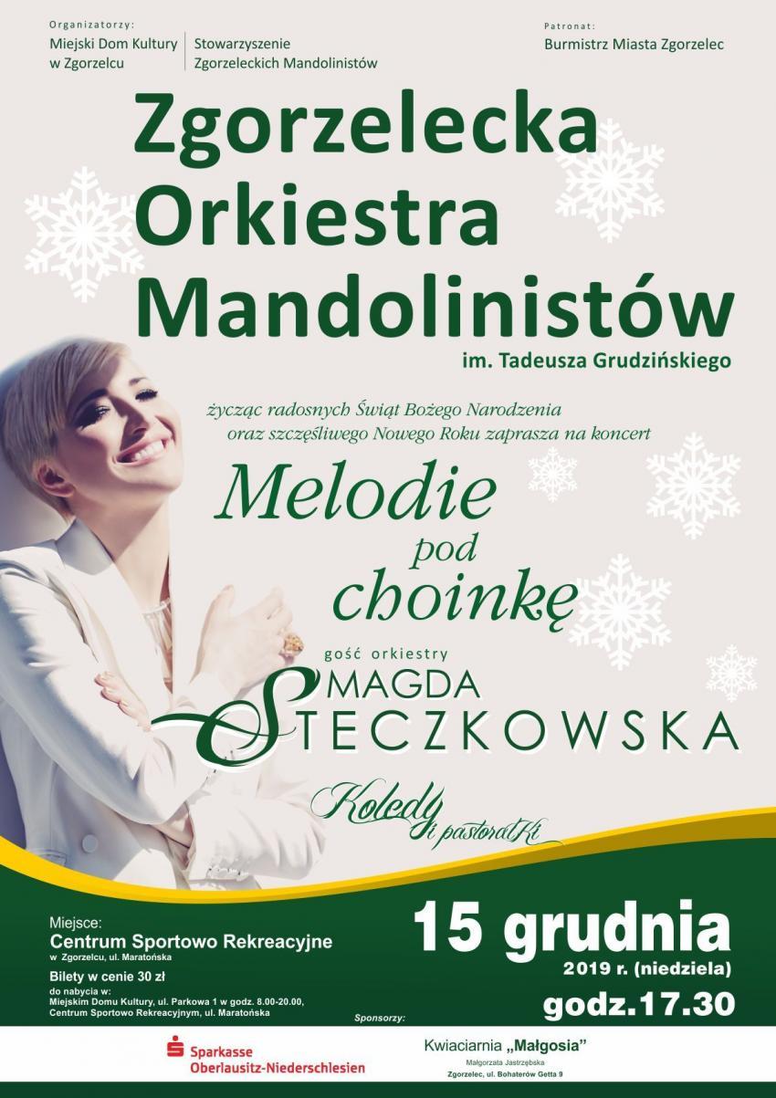 Gościem zgorzeleckiej orkiestry mandolinistów będzie Magda Steczkowska