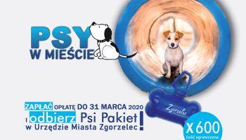 Zrealizuj opłatę za psa do 31 marca 2020 i odbierz Psi Pakiet