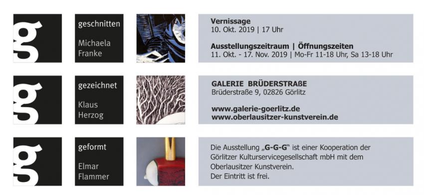 """Wystawa """"G-G-G""""- nowa wystawa w Galerii Brüderstrasse"""