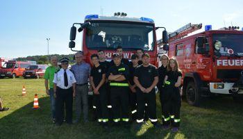 Młodzi strażacy na zawodach strażackich w Gross Radisch / fot. Gmina Sulików