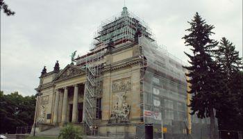 Miejski Dom Kultury w Zgorzelcu podczas remontu
