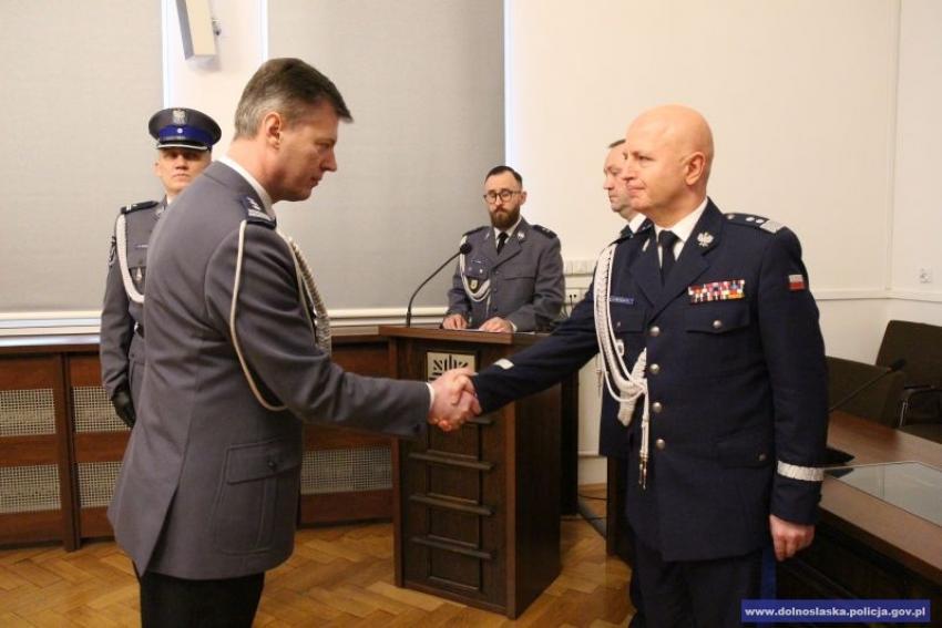 Komendant Główny Policji gen. insp. Jarosław Szymczyk i Komendant KWP we Wrocławiu insp. Dariusz Wesłowoski / fot. KWP Wrocław