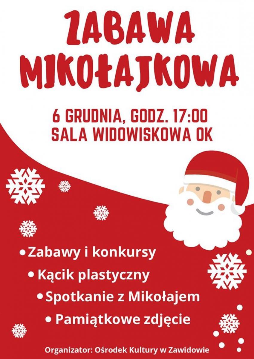 Zabawa mikołajkowa 2019 w Zawidowie