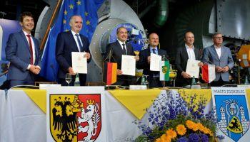 Podpisanie listu intencyjnego ws. połączenia sieci ciepłowniczych Görlitz i Zgorzelca (9 lipca 2020 r.)