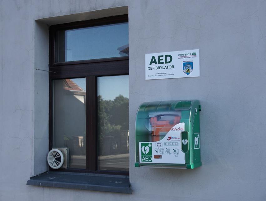 Defibrylator przy ul. Domańskiego w Zgorzelcu / fot. UM Zgorzelec