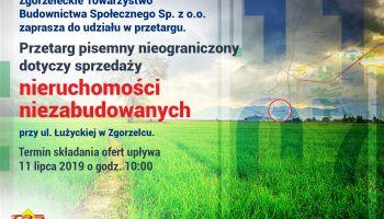 Ogłoszenia o przetargach na sprzedaż nieruchomości niezabudowanych w Zgorzelcu