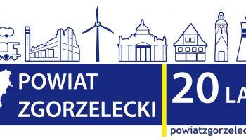 Zaproszenie na uroczystą sesję z okazji 20-lecia Powiatu Zgorzeleckiego.